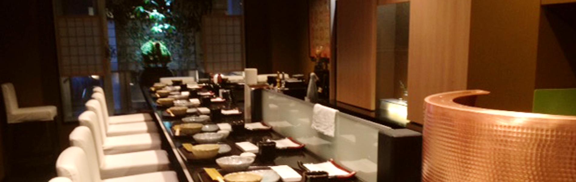 天ぷら東山店内